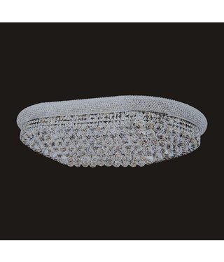 B&S Lighting 1006F-OV 18X30 GOLD CHANDELIER FLUSH WITH LED COLOR CHANGE (CB168)(FO185)