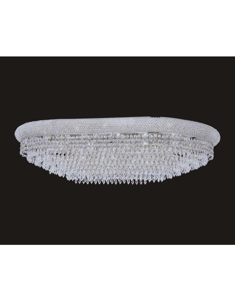 B&S Lighting 1006F-OV 22X36 CHROME CHANDELIER FLUSH WITH LED COLOR CHANGE (CB231)(FO272)