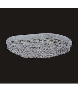 B&S Lighting 1006F-OV 22X36 GOLD CHANDELIER FLUSH WITH LED COLOR CHANGE (CB231)(FO272)
