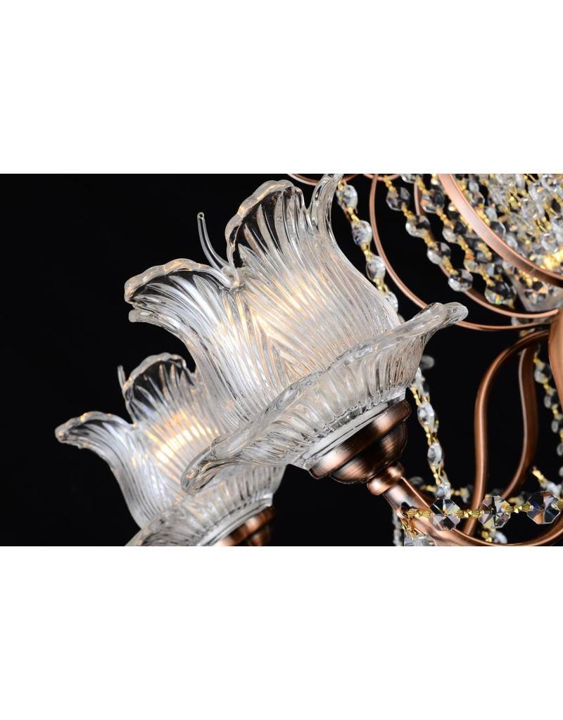 B&S Lighting B&S LIGHTING 5399/8 LIGHT W30XH33 INCH CRYSTAL CHANDELIER