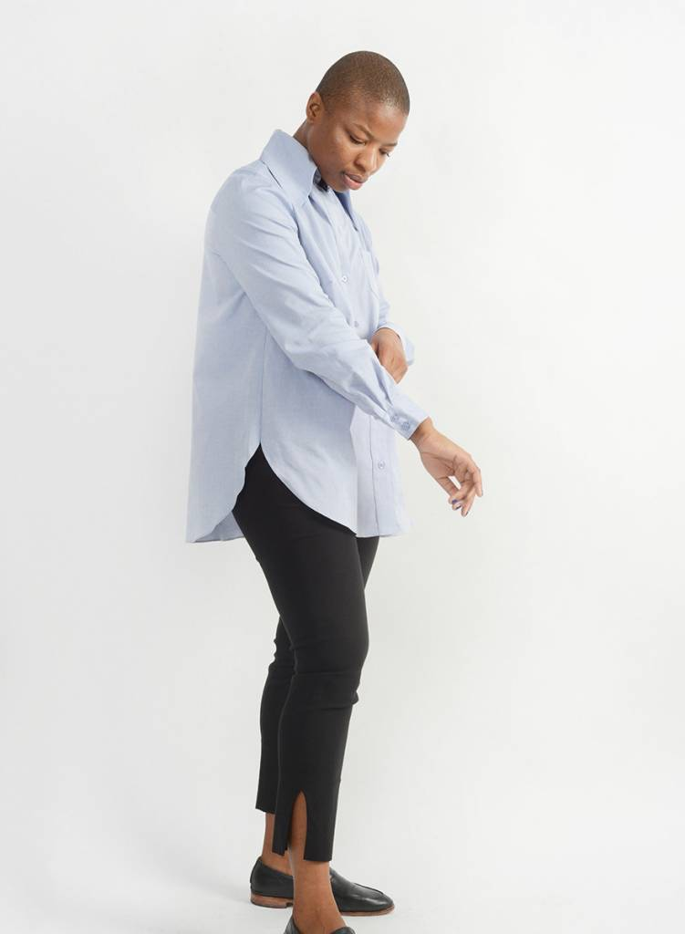 Oxford Big Collar Shirt - Blue