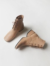 About Arianne Gabriel Lace Up Boot - Nude
