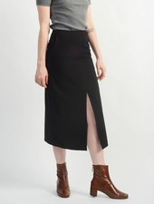 Long Relaxed Skirt - Black