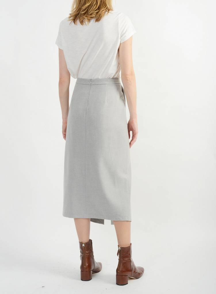 Long Relaxed Skirt - Silver