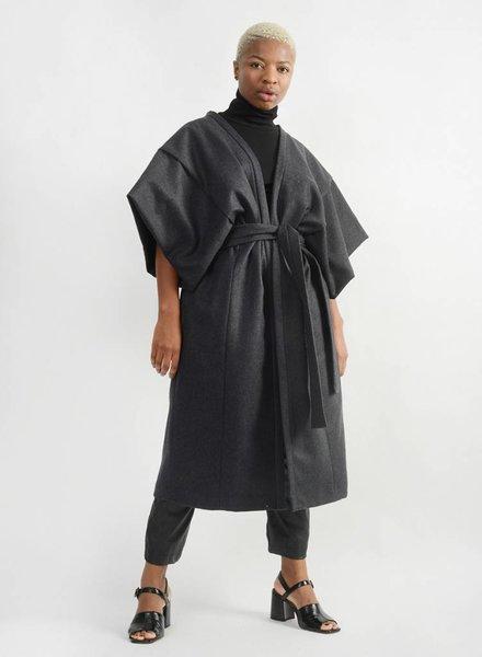 Kimono Coat - Charcoal