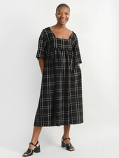 Liberty Doll Dress - Black Plaid