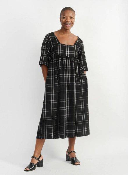 Liberty Doll Dress - Black Plaid