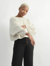 Oversized Boatneck Sweater - Ivory