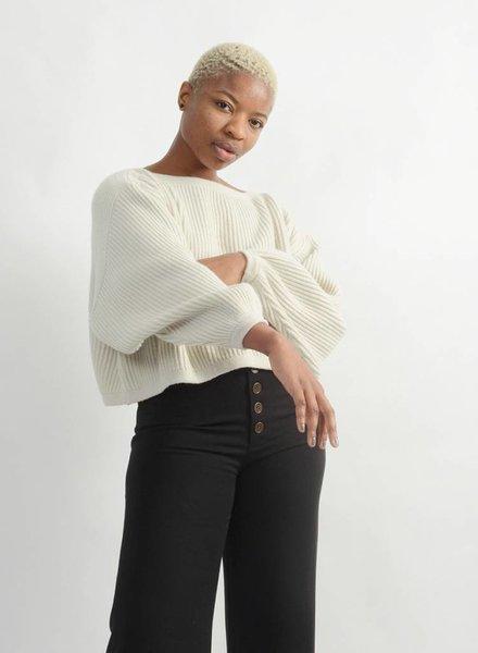 Oversized Boatneck Sweater - Ivory