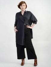 Vienna Shirt Dress - Black