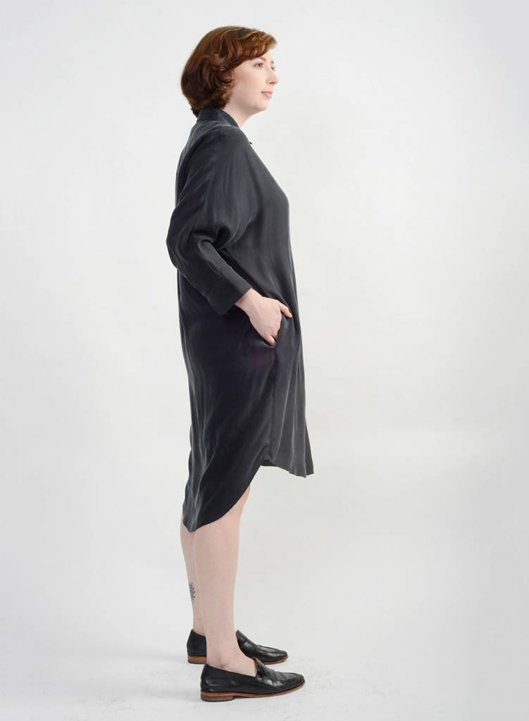 Vienna Shirt Dress - Black