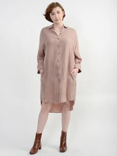 Vienna Shirt Dress - Dusty Pink