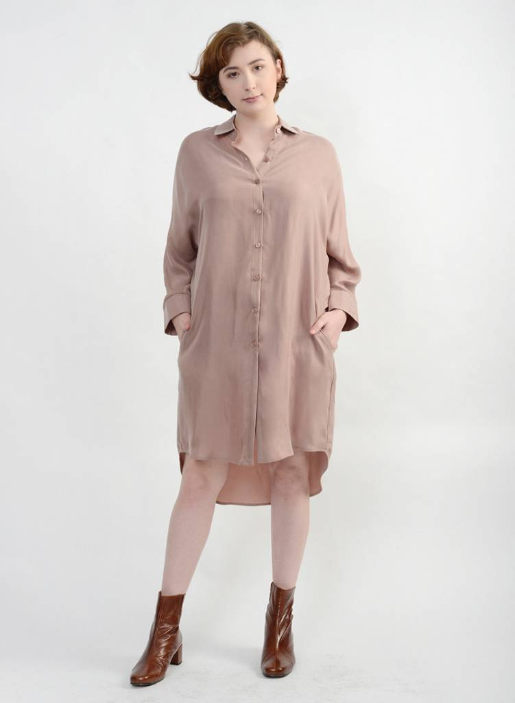 45b3a685 Vienna Shirt Dress - Dusty Pink - Meg - Made in your neighborhood by women  for women