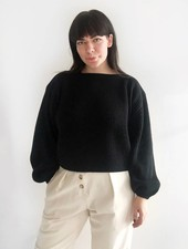 Oversized Boatneck Sweater - Black