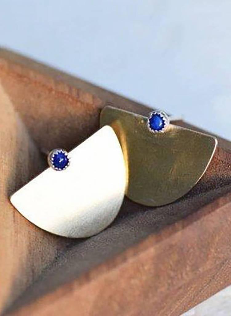 Lumafina Suma Stud Earrings - Lapis