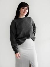 Casual Crew Neck Sweater - Crow
