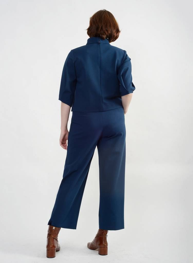 Short Hepburn Pant - Deep Teal