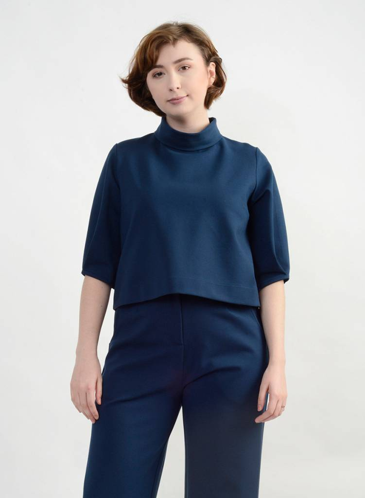 Pleated Sleeve Top - Deep Teal