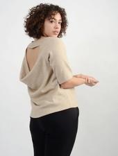 Knit Open Back Sweater - Beige