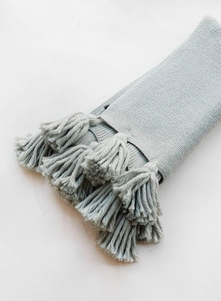 Chunky Fringe Scarf - Grey
