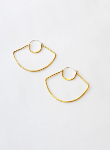 Knuckle Kiss UFO Hoop Earrings