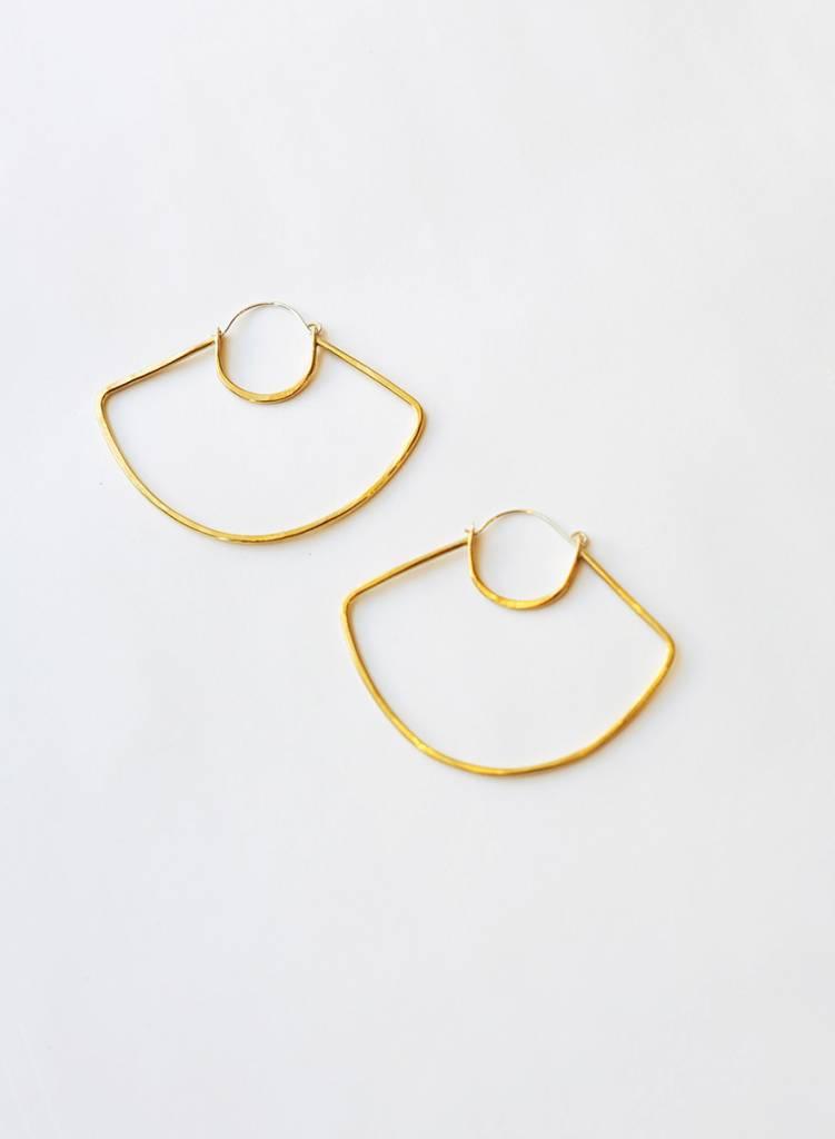 Knuckle Kiss UFO Hoop Earrings