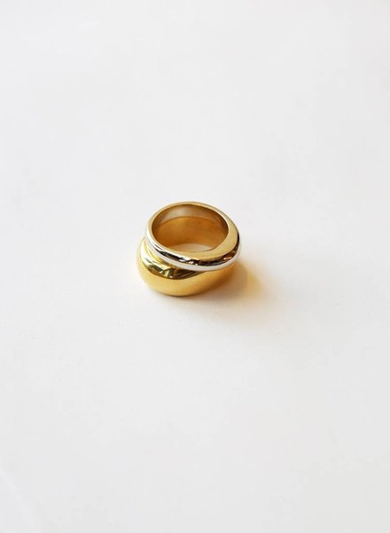 Soko Soko Organic Mixed Metal Ring