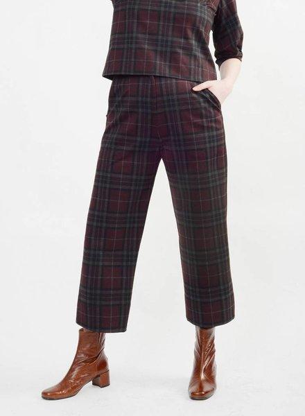 Short Hepburn Pant - Plaid