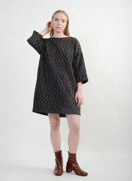 Copotto Sweater Dress - White/Black