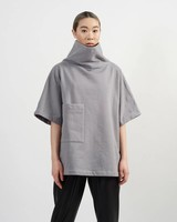 Brandon Cowl Sweatshirt - Grey