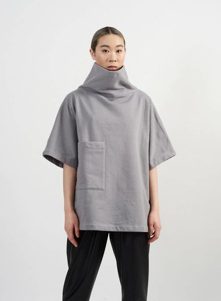 Brandon Cowl Sweatshirt - Grey