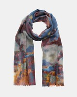Narratives Abstract Painterly Scarf Med