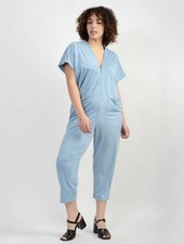 Knit Suede Triangle Jumpsuit - Chambray