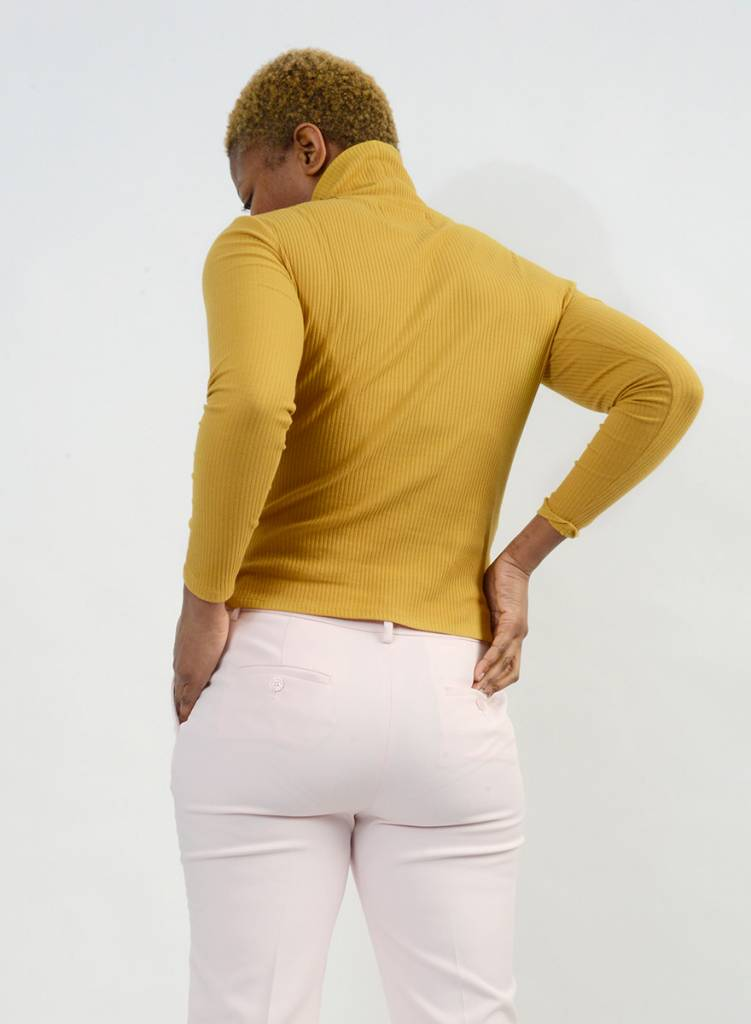 Long Sleeve Turtleneck - Mustard