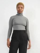 Long Sleeve Turtleneck - Heather Grey