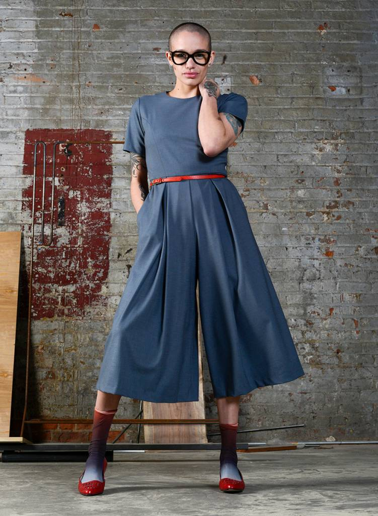 Spring Culotte Jumpsuit - Steel