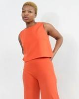 Shell Top - Orange