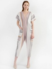 Stripe Triangle Jumpsuit - Multi