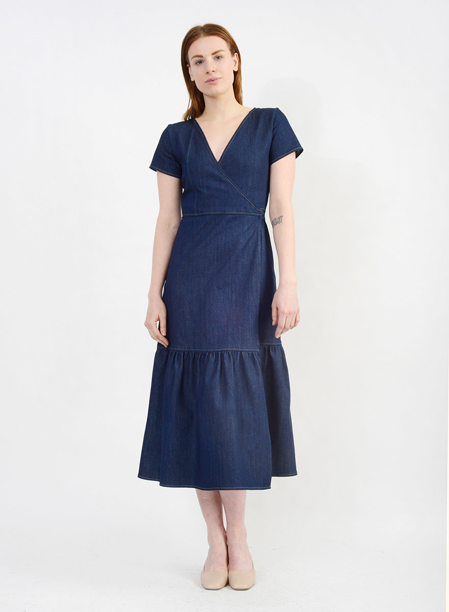 431cca9480b Denim Wrap Dress - Meg - Made in your neighborhood by women for women