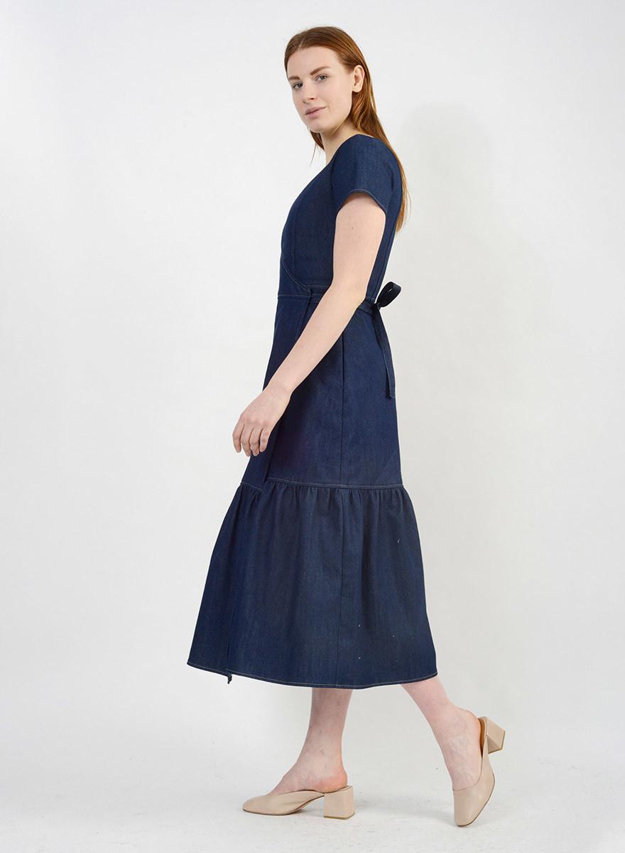 Denim Wrap Dress