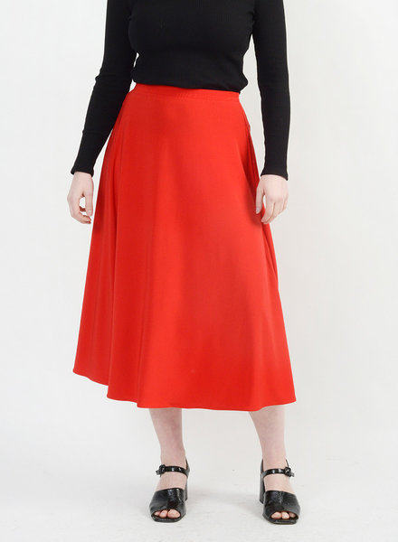 Long Circle Skirt - Red