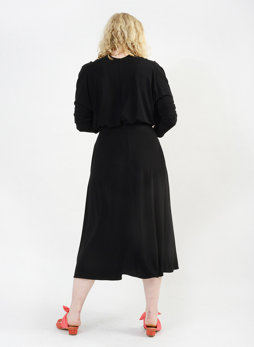 Long Circle Skirt - Black