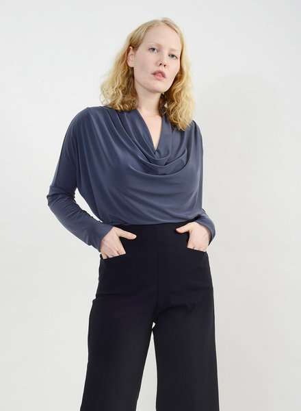 Cowl Neck Top - Grey