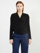 Cowl Neck Top - Black