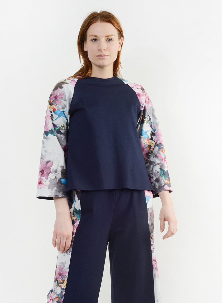 New Angles Top - Floral Ink