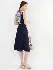 Floral Painted Dress - Floral Ink