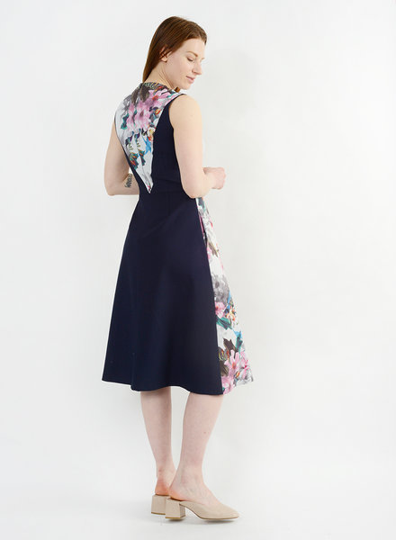 Floral Painted Dress - Floral Ink