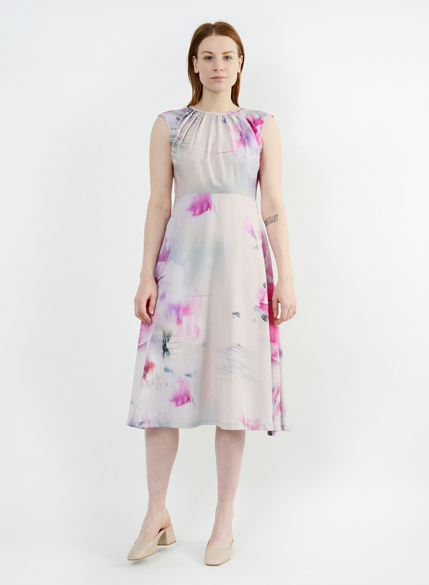Floral Whitson Dress - Watercolor