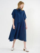 Neck Tie Dress - Blue