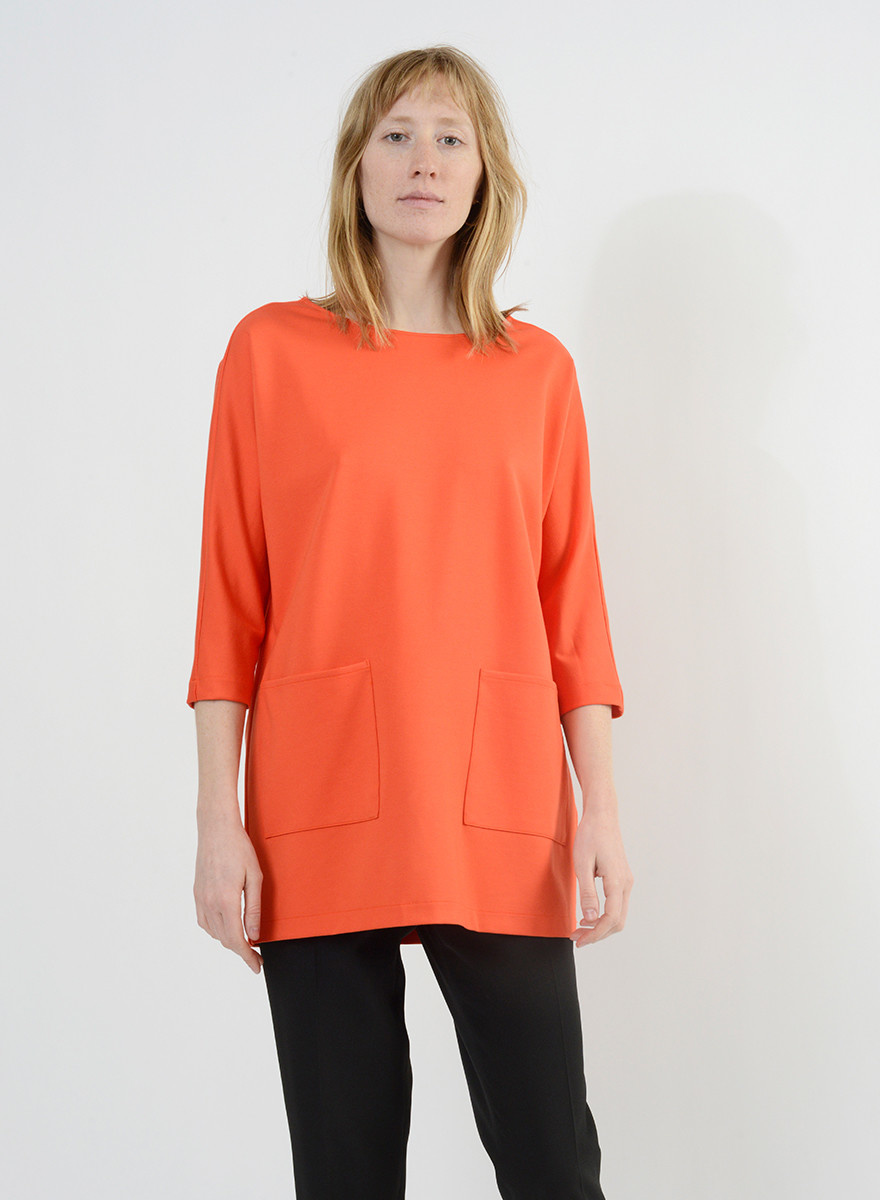 Patch Pocket Tunic - Orange